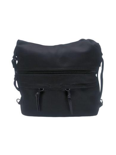 Velká dámská kabelka a batoh 2v1 s kapsami, Tapple H181175N, černá, přední strana kabelko-batohu