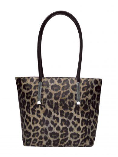 Leopardí kabelka přes rameno Tapple H181181-3 černá přední strana