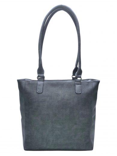 Moderní dámská kabelka přes rameno s texturou, Tapple, H17237, středně šedá, přední strana kabelky přes rameno
