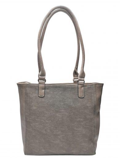Moderní dámská kabelka přes rameno s texturou, Tapple, H17237, světle hnědá, přední strana kabelky přes rameno