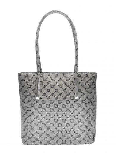 Slušivá dámská kabelka s ornamenty Tapple H181188 světle šedá přední strana