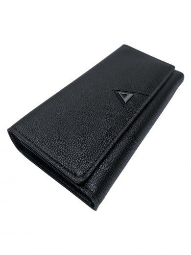 Elegantní dámská peněženka na magnetky, New Berry, 108-1, černá, přední strana peněženky