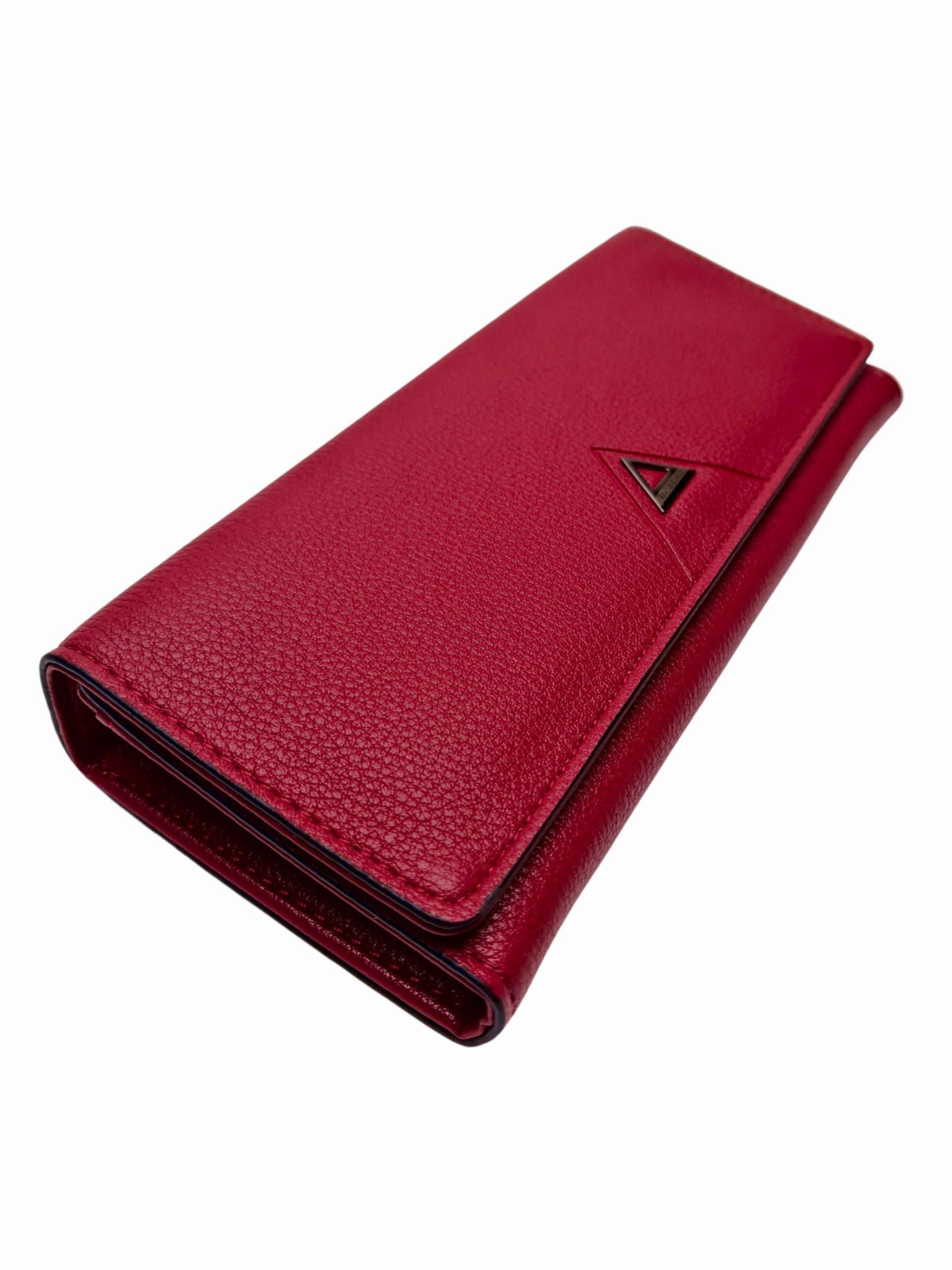 Elegantní dámská peněženka na magnetky, New Berry, 108-1, červená, přední strana peněženky