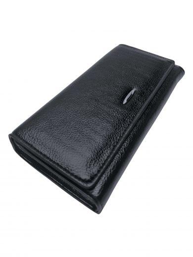Moderní dámská peněženka na magnetky, New Berry, 0925-5, černá, přední strana peněženky