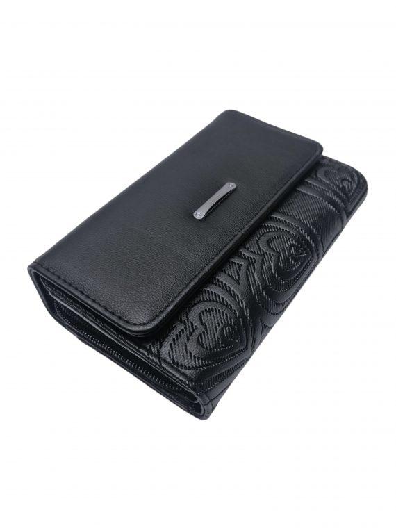 Moderní dámská peněženka s líbivým vzorem, New Berry, YX-106, černá, přední strana peněženky