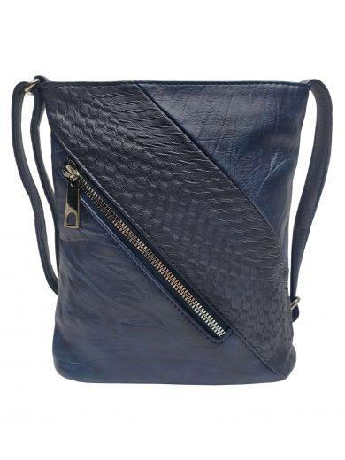 Mini crossbody kabelka se stylovou šikmou kapsou, Tapple, H17448, tmavě modrá, přední strana crossbody kabelky