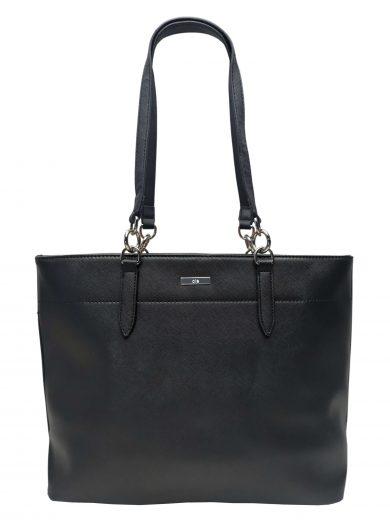 Elegantní dámská kabelka přes rameno, Ola, G-9223, černá, přední strana kabelky přes rameno