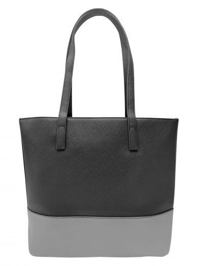 Slušivá dvoubarevná kabelka přes rameno Tapple, H17419, černošedá, přední strana kabelky přes rameno