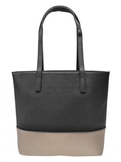 Slušivá dvoubarevná kabelka přes rameno Tapple, H17419, černozlatá, přední strana kabelky přes rameno