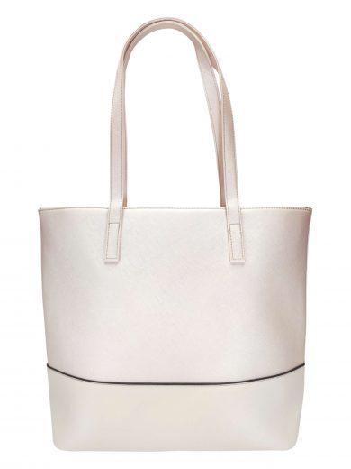 Slušivá dvoubarevná kabelka přes rameno Tapple, H17419, perleťově růžová, přední strana kabelky přes rameno