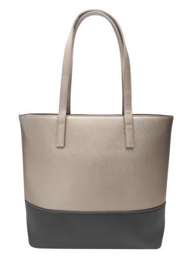 Slušivá dvoubarevná kabelka přes rameno Tapple, H17419, zlatá, přední strana kabelky přes rameno