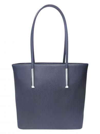 Moderní kabelka přes rameno, Tapple, H17429S, tmavě modrá, přední strana kabelky přes rameno