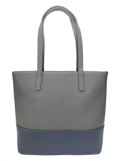 Slušivá dvoubarevná kabelka přes rameno Tapple, H17419, středně šedá, přední strana kabelky přes rameno