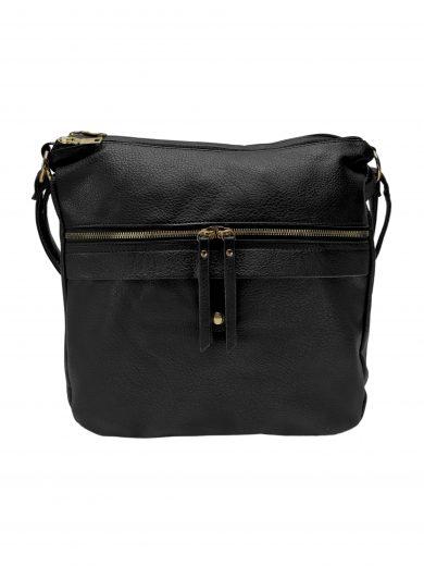 Velký kabelko-batoh 2v1 s praktickou kapsou, Int. Company, H23, černý, přední strana kabelko-batohu