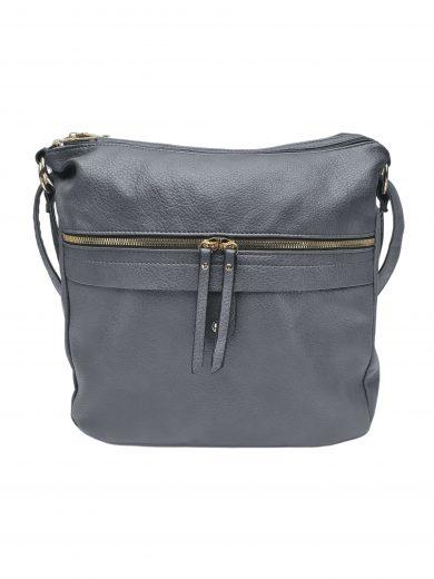 Velký kabelko-batoh 2v1 s praktickou kapsou, Int. Company, H23, středně šedý, přední strana kabelko-batohu