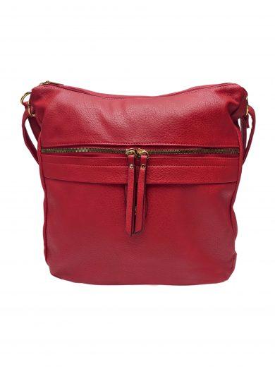 Velký kabelko-batoh 2v1 s praktickou kapsou, Int. Company, H23, tmavě červený, přední strana kabelko-batohu