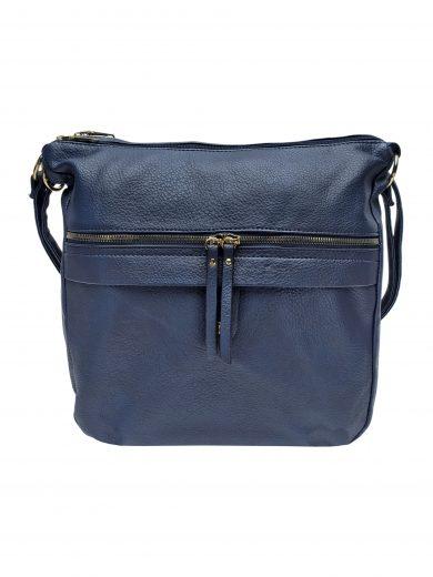 Velký kabelko-batoh 2v1 s praktickou kapsou, Int. Company, H23, tmavě modrý, přední strana kabelko-batohu